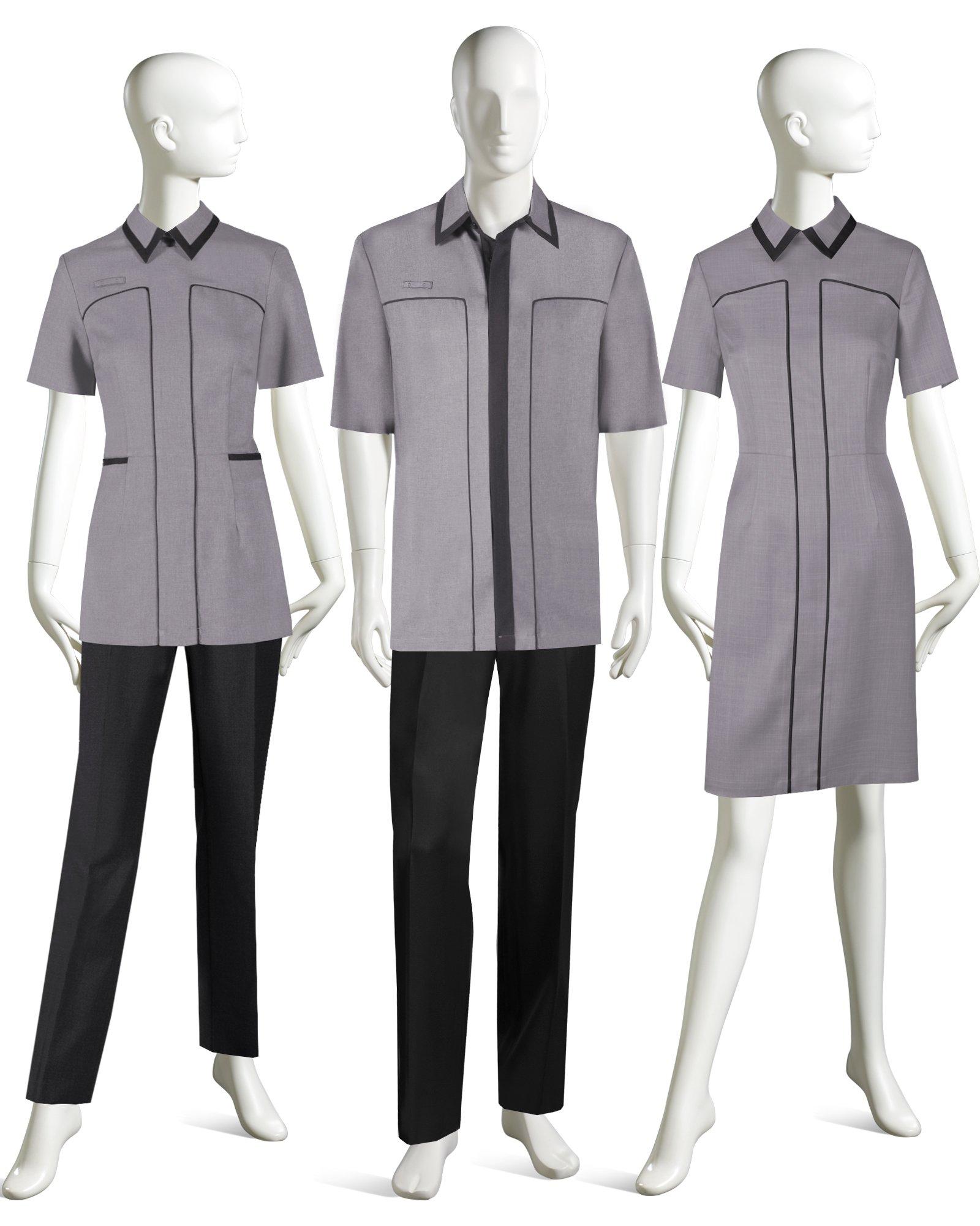 Modern front desk uniforms hostgarcia for Spa uniform policy