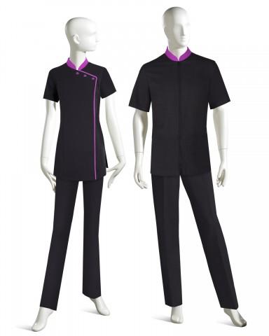 professional spa uniforms custom upscale luxury spa